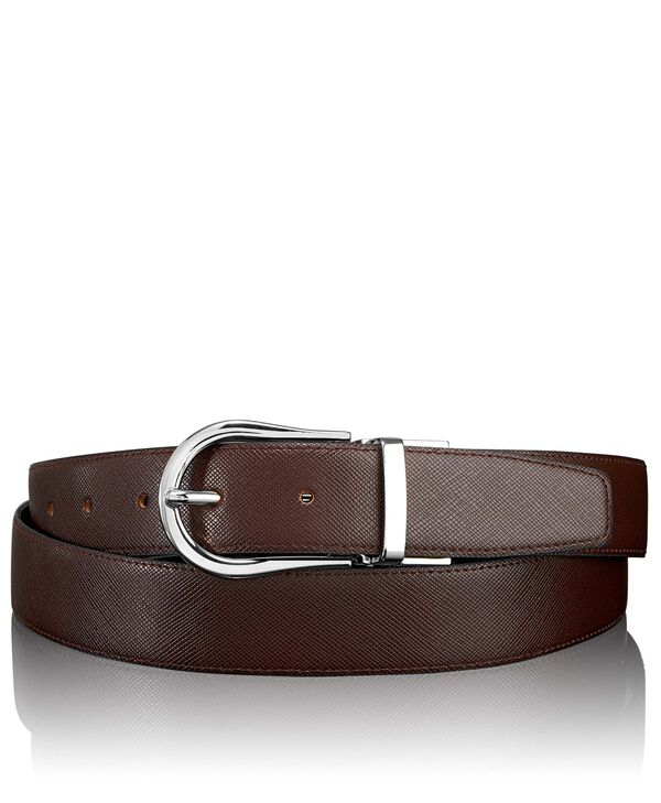 """Belts Cintura reversibile Saffiano con ferro di cavallo 44"""""""